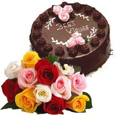 1 kg chocolate cake 30 roses bunch