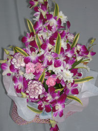 Carnations and orchids Bouquet