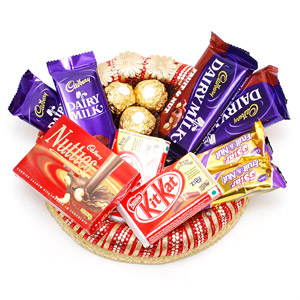 1 Nutties 4 dairy milk 2 5 star 3 ferrero in tray