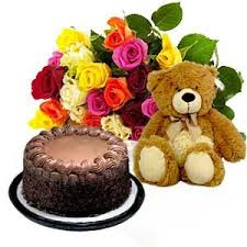 20 mix Roses 1/2 kg cake and teddy