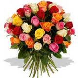 12 mix color roses bouquet