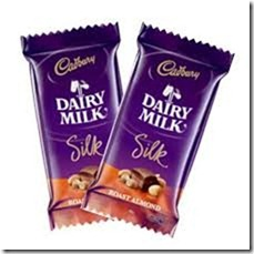 2 silk chocolate bars